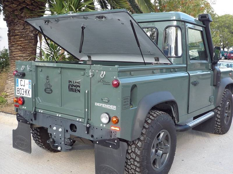 Couvre Benne Land Rover Defender 90 Pick Up Cover Truck